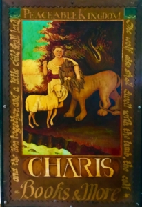 A Charis sign from the mid-70s. Credit: Kelly Jordan