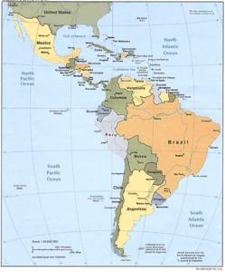 Latin America, map