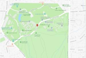 West Wieuca Road, locator map