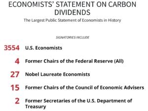 carbon fee, economists