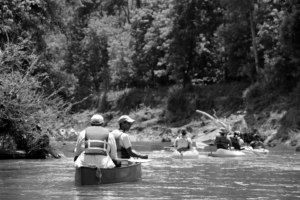 South River, B:W paddlers, May 19, 2019