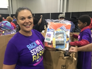 """Superintendent Meria Carstarphen at the """"Back to School Bash"""" on Saturday, Aug. 10 (Photo by Maria Saporta)"""