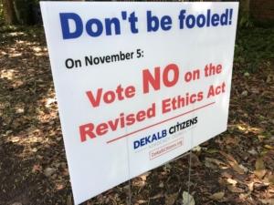 DeKalb ethics yardsign