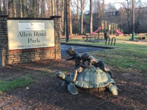 Allen Park, sign, sandy springs