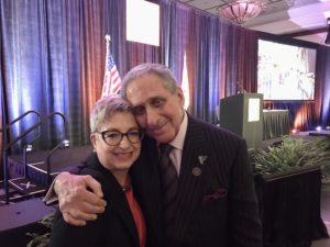 Carol Tomé and Arthur Blank