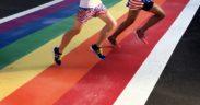rainbow crosswalk, cropped