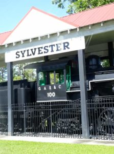 Downtown Sylvester, train locomotive