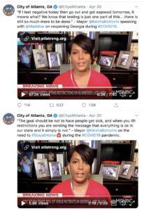 mayor's twitter feed