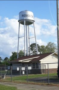water tower, rebecca, ga.