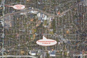 8 Clifton Street, locator map