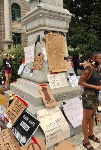 DeKalb County Confederate obelisk protest
