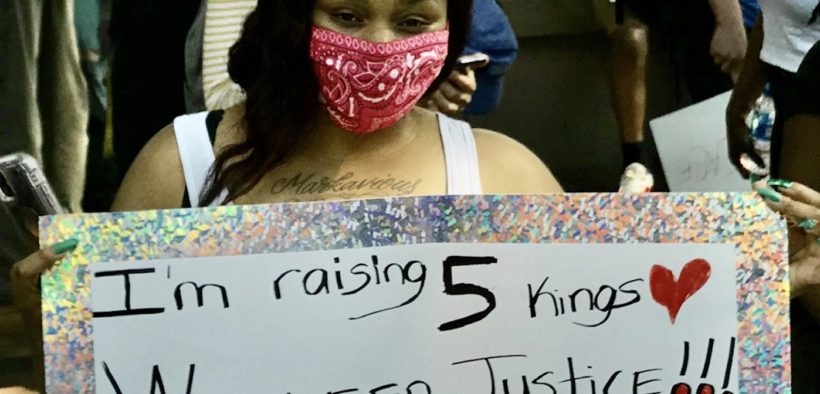 protest, placard, five kings