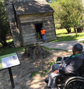 slave cabin, stone mountain