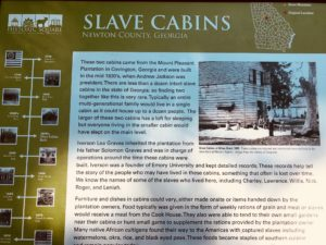 slave mountain, stone mountain, sign
