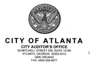 Atlanta City Auditor, letterhead