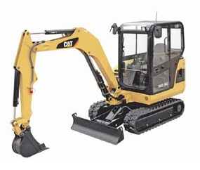 Caterpillar mini hydraulic excavator