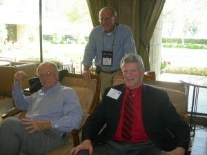Three county chairman in lobby of Arizona Biltmore - Gwinnett's Charles Bannister, Fayette's Jack Smith and Cherokee's Buzz Ahrens (standing)
