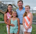photo of former Atlantans Brian and Sassy Henry with daughters Camille and May May on Pawleys Island, site of their Sea View Inn.