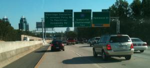 Ga. 400 south, approaching I-285