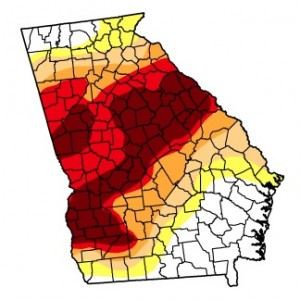 Georgia drought monitor, Aug. 7, 2012