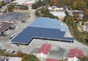 MARTA's solar canopy at Laredo Bus Facility