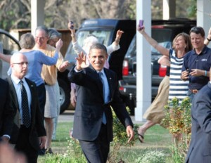 Obama at Wilbourn home
