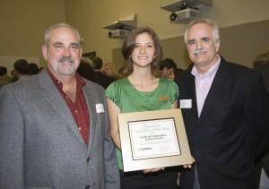 Earthcraft Council members Chase Broward, Christina Corley and David Skelton receive volunteer award