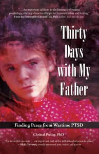 """Cover image from Christal Presley's memoir, """"Thirty Days with My Father: Finding Peace from Wartime PTSD."""" It will be published in November."""
