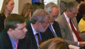 The team that oversees the public education and campaign for the 2012 sales tax referendum includes (left to right) Paul Bennecke, principal of Marietta-based Red Clay Strategies; Earl Bender, president of Alexandria, Va. -based Totten Communications; David Hill, of Auburn-based Hill Research Consultants; and Glenn Totten, of Totten Communications.  Photo: David Pendered