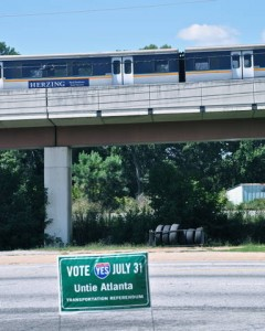 Vote Yes, with MARTA train