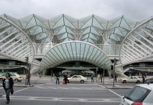 Calatrava's Gare de Oriente in Lisbon, Portugal