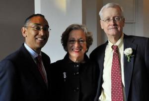 DeKalb CEO Burrell Ellis, Leadership DeKalb's Sara Fountain and Richard Stogner; photo by David Fisher