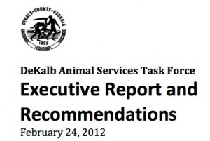 DeKalb County Animal Services Task Force Report