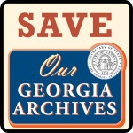 Logo of the supporters of Georgia Archives, which faces state cutbacks.