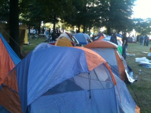Occupy Atlanta has created a tent city in Woodruff Park. Credit: David Pendered