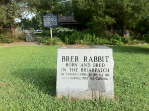 Brer Rabbit was kidnapped from this pedestal in Eatonton. Credit: Stanley Lines