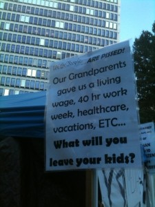Occupy Atlanta addresses an array of concerns. Credit: David Pendered