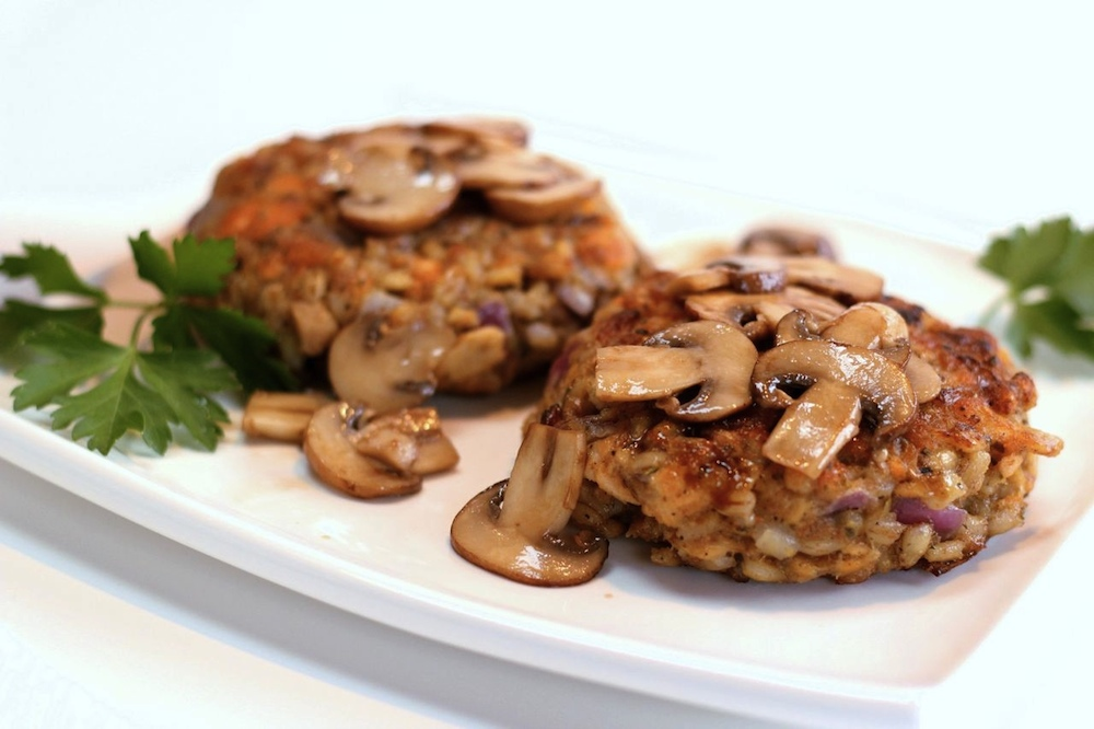 Pan Fried Barley Cakes