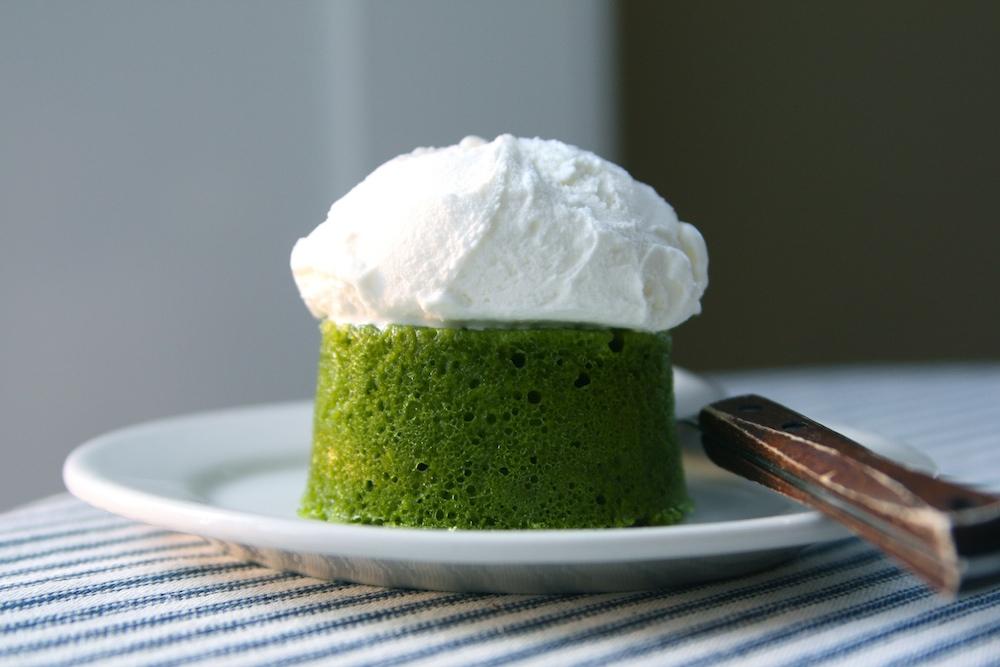 Matcha Cake + Azuki Frosting