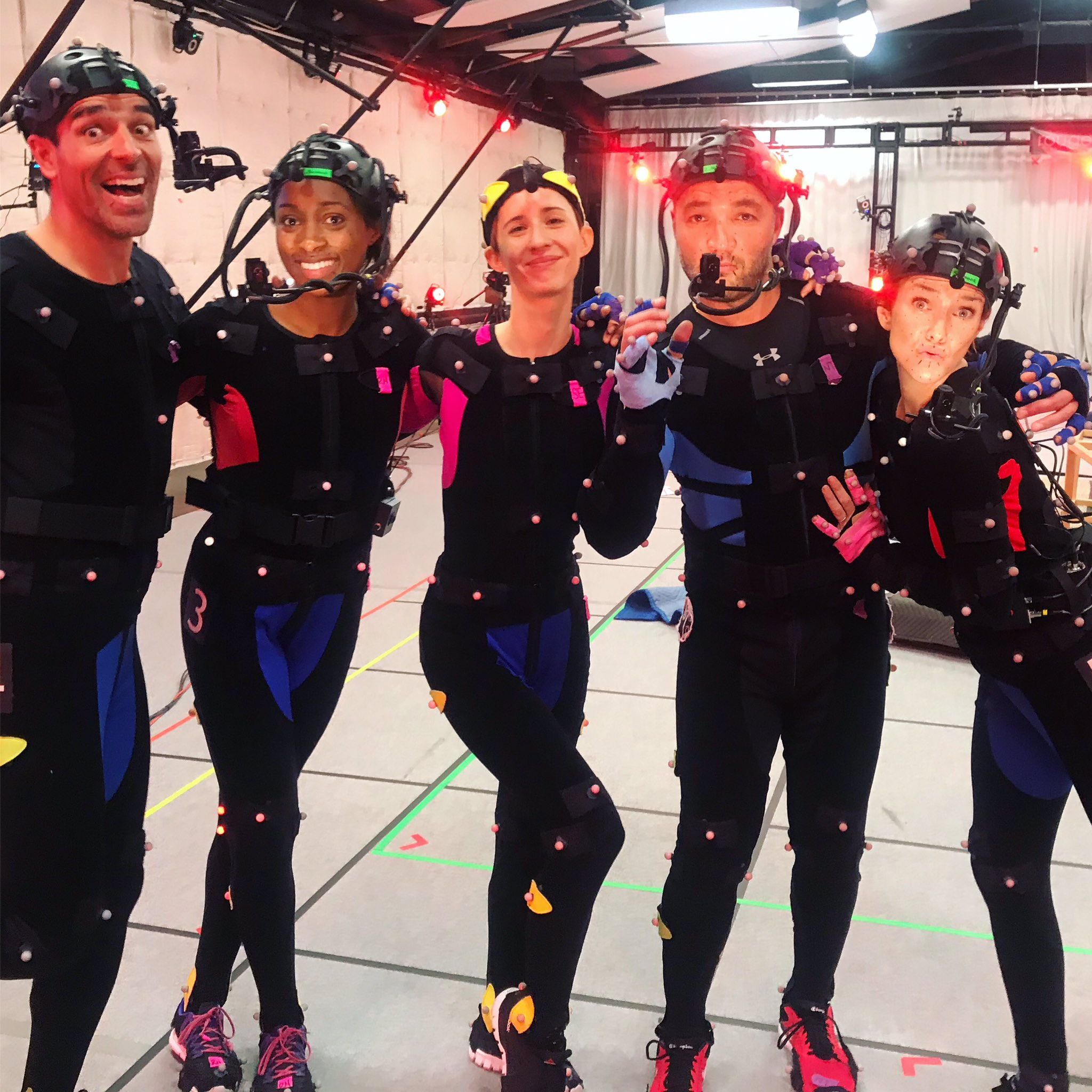 The Anthem cast in the mocap volume