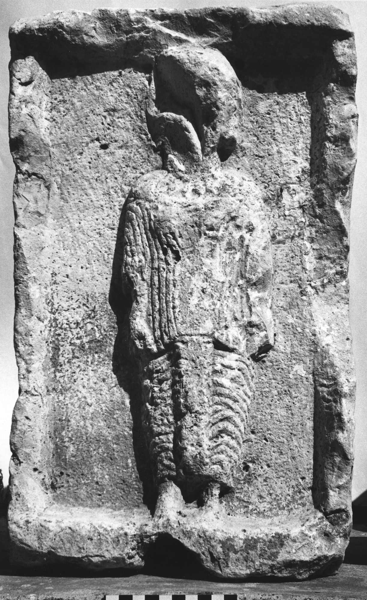 Relief of Frontal Standing Draped Female Figure