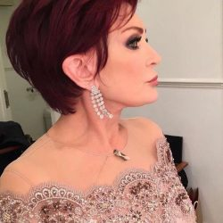 Sharon Osbourne wows in Sassi Holford gown for second week in a row!