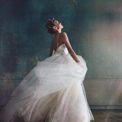 Sassi Holford Phebe featured in Brides Magazine – May/June 2017