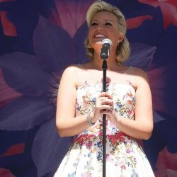 Natalie Rushdie wears Sassi Holford 'Blossom' at Chelsea Flower Show