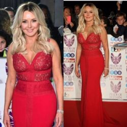 Carol Vorderman wears bespoke Sassi Holford gown on the red carpet at The Pride of Britain Awards 2017