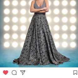 Denise Van Outen wears Sassi Holford for Dancing on Ice tour