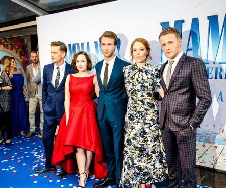 Alexa Davies wears Sassi Holford to Mamma Mia 2 Premiere