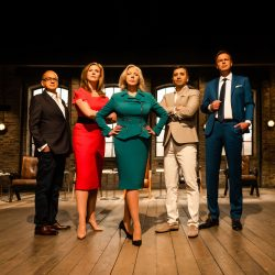 Deborah Meaden wears Sassi Holford on Dragons Den