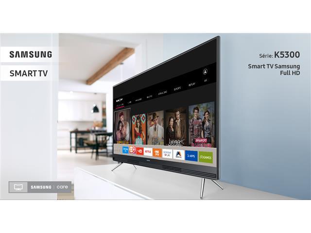 "Smart TV LED 40"" Samsung Full HD c/Conv. TV Digital 2 HDMI 1 USB WiFi - 2"