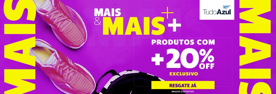 MAIS+ NETSHOES ATÉ 20%